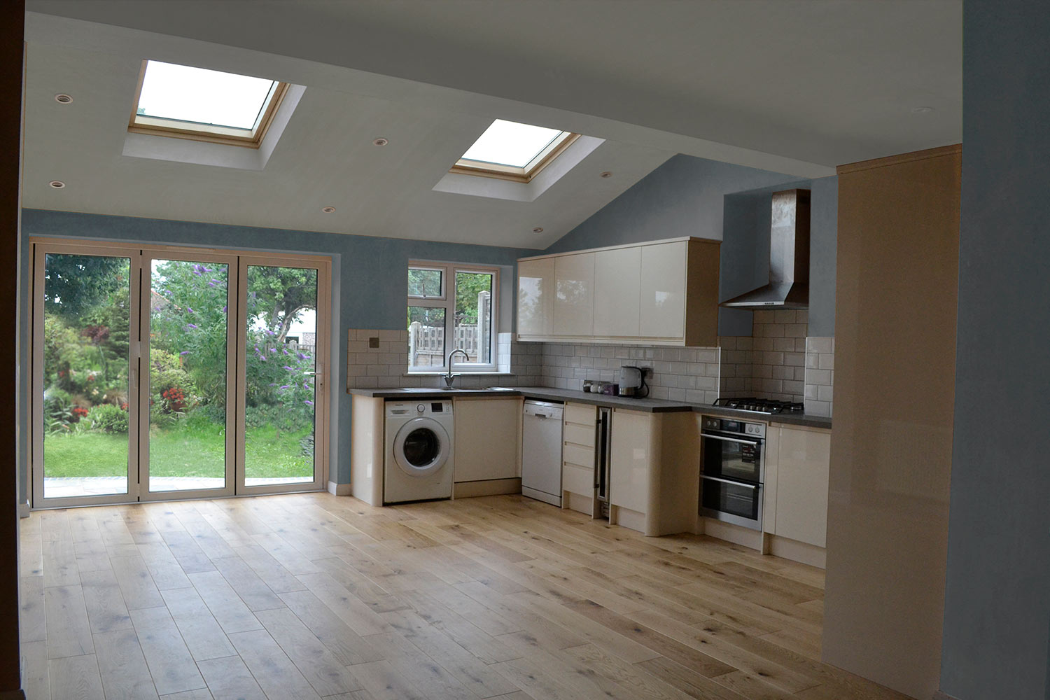 Rear extension with new kitchen.